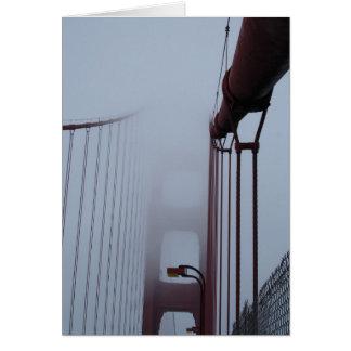Golden Gate Bridge in fog Card