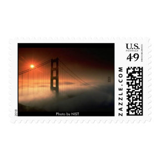 Golden Gate Bridge in Fog Postage