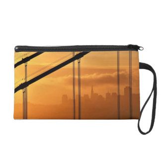 Golden Gate Bridge in front of the San Francisco Wristlet Clutch
