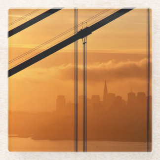 Golden Gate Bridge in front of the San Francisco Glass Coaster
