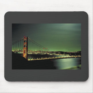 Golden Gate Bridge in Green Mouse Pad