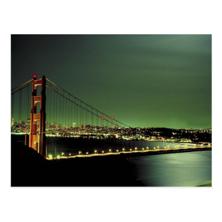 Golden Gate Bridge in Green Postcard