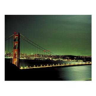 Golden Gate Bridge in Green Postcard