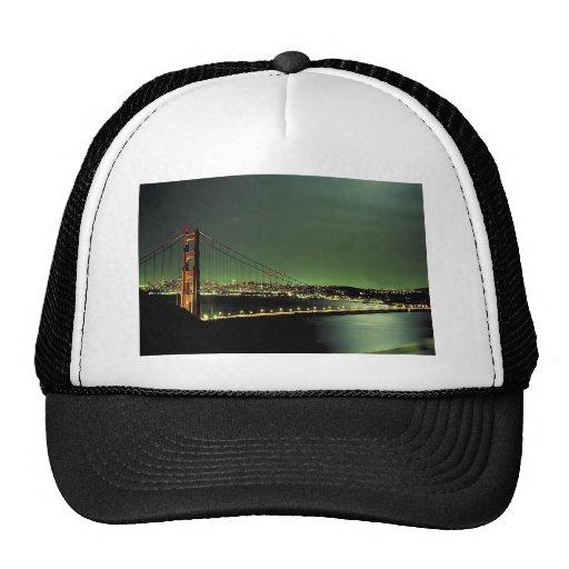 Golden Gate Bridge in Green Trucker Hats