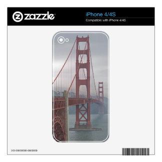 Golden gate bridge in mist. decals for iPhone 4S