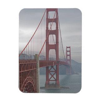 Golden gate bridge in mist. magnet