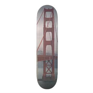 Golden gate bridge in mist. skateboard deck