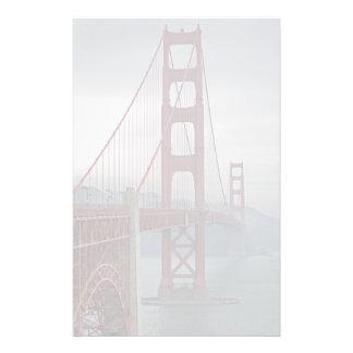Golden gate bridge in mist. stationery