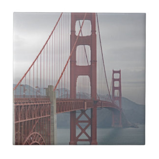 Golden gate bridge in mist. ceramic tiles