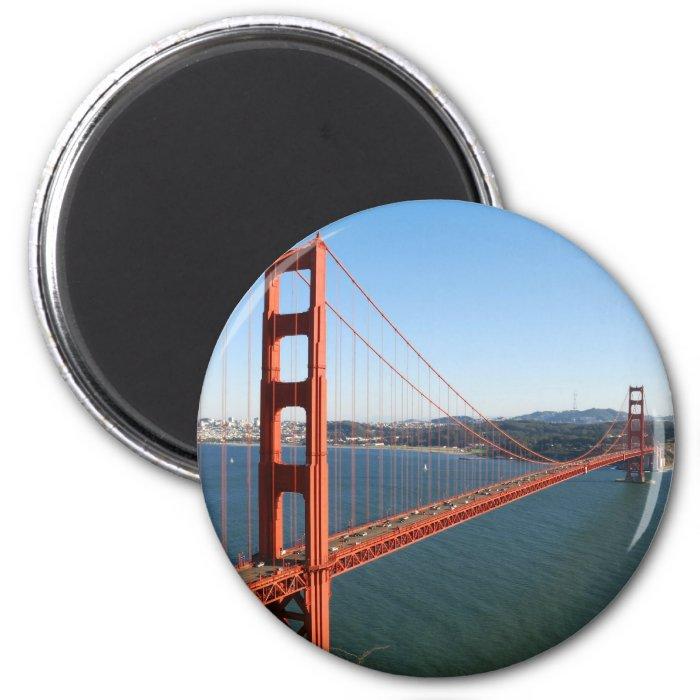 Golden Gate Bridge in San Francisco 2 Inch Round Magnet