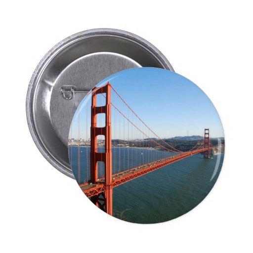 Golden Gate Bridge in San Francisco Button