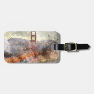 Golden Gate Bridge in San Francisco California Bag Tag
