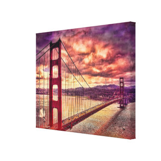 Golden Gate Bridge in San Francisco, California. Gallery Wrapped Canvas