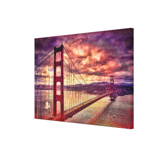 Golden Gate Bridge in San Francisco, California. Stretched Canvas Print