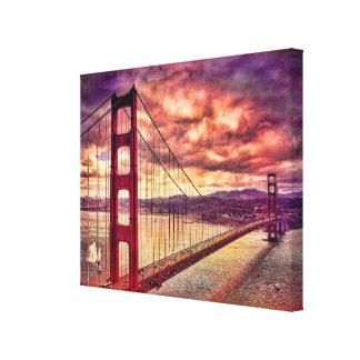 Golden Gate Bridge in San Francisco, California. Canvas Print
