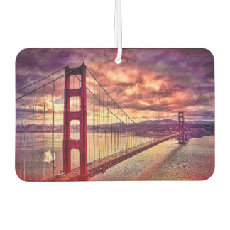 Golden Gate Bridge in San Francisco, California. Car Air Freshener