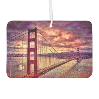 Golden Gate Bridge in San Francisco, California. Car Air Freshener