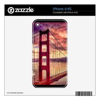 Golden Gate Bridge in San Francisco, California. Decals For iPhone 4S