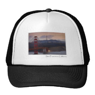 Golden Gate Bridge in San Francisco California Trucker Hats