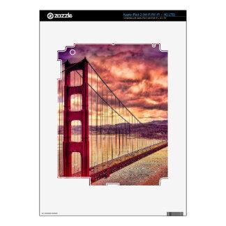 Golden Gate Bridge in San Francisco, California. iPad 3 Decals