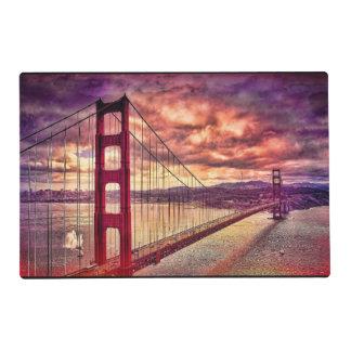 Golden Gate Bridge in San Francisco, California. Placemat