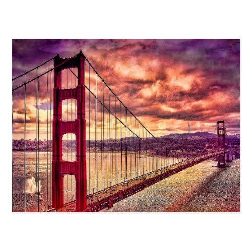 Golden Gate Bridge in San Francisco California Postcard