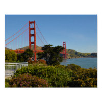 Golden Gate Bridge in San Francisco California Poster