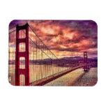 Golden Gate Bridge in San Francisco, California. Flexible Magnets