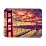 Golden Gate Bridge in San Francisco, California. Rectangular Photo Magnet