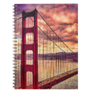 Golden Gate Bridge in San Francisco, California. Spiral Notebook