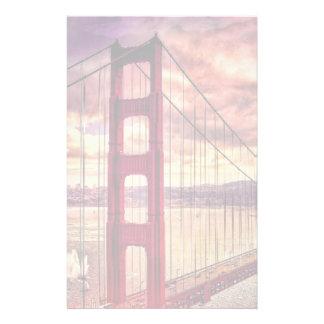 Golden Gate Bridge in San Francisco, California. Stationery