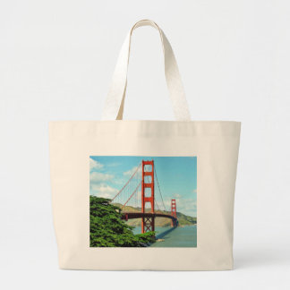 Golden Gate Bridge In San Francisco Large Tote Bag