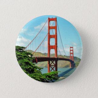 Golden Gate Bridge In San Francisco Pinback Button