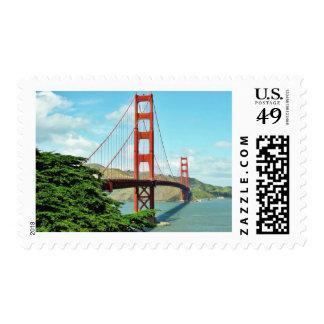 Golden Gate Bridge In San Francisco Postage Stamp