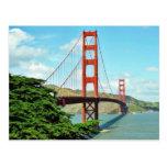 Golden Gate Bridge In San Francisco Postcard