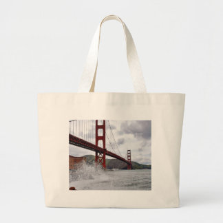 Golden Gate Bridge In San Francisco Seen From Fort Large Tote Bag