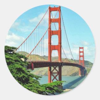 Golden Gate Bridge In San Francisco Stickers