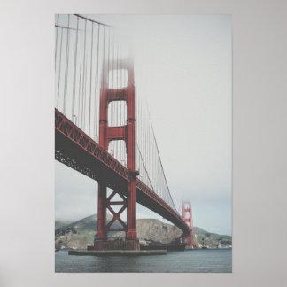 Golden Gate Bridge in the fog Poster