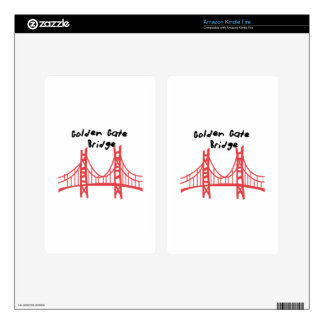 Golden Gate Bridge Kindle Fire Skin