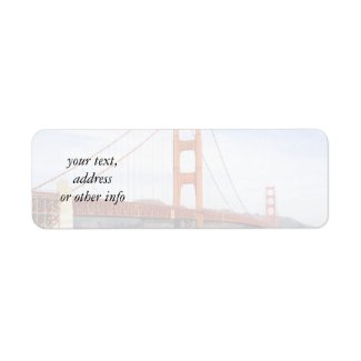 Golden Gate Bridge label