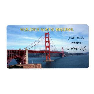 Golden Gate Bridge Custom Shipping Labels