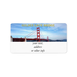 Golden Gate Bridge Address Label