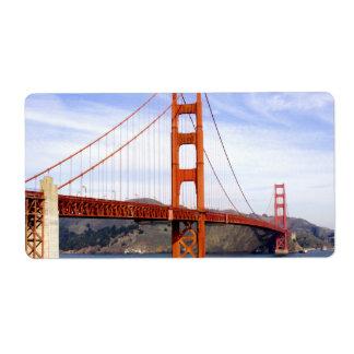 Golden Gate Bridge Shipping Label