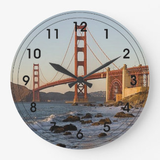 Golden Gate Bridge Large Clock