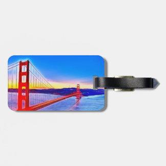 golden gate bridge travel bag tag
