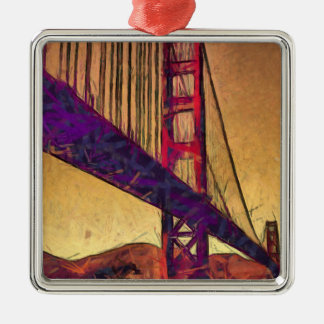 Golden gate bridge metal ornament