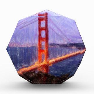 Golden Gate Bridge -- mixed media painting Acrylic Award