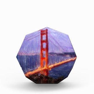 Golden Gate Bridge -- mixed media painting Award