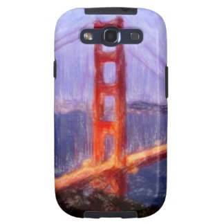 Golden Gate Bridge -- mixed media painting Samsung Galaxy SIII Cases