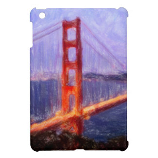 Golden Gate Bridge -- mixed media painting Cover For The iPad Mini